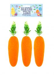 Easter Craft Carrot 15cm 3Pcs Set