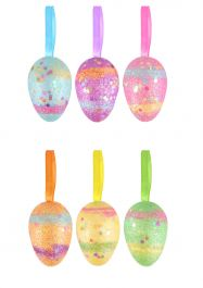 Easter Eggs Glitter 5 Cm 6 Assorted