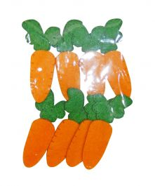 Easter Felt Carrots (Pack Of 8)