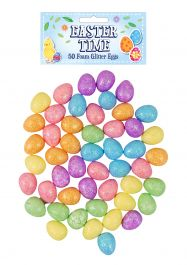 Easter Kit Foam Eggs Glitter Assorted Colours