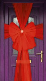 Eleganza Door Bow Red