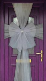 Eleganza Door Bow Silver