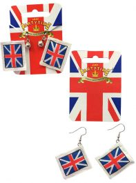 Union Jack England Earrings (2 Assorted)