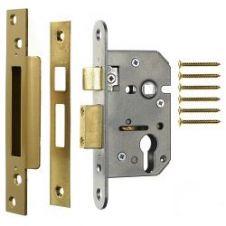 Era Euro Pro-fit Sashlock Case 63mm - Finish: Brass Effect