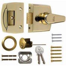 Era Replacement Front Door Lock 40mm - Finish: Brass Effect Body - Brass Cylinder