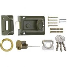 Era Traditional Door Lock 60mm - Finish: Green Body - Brass Cylinder