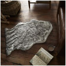 FAUX FUR HUSKY RUG 60X90 BLACK 6550