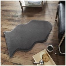 FAUX FUR RABBIT RUG 60X90 GREY 6505