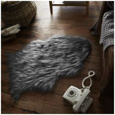 FAUX FUR SHEEP RUG 60X90 GREY 6444