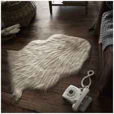 FAUX FUR SHEEP RUG 60X90 NATURAL 6451