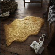 FAUX FUR SHEEP RUG 60X90 OCHRE 9592