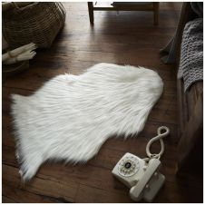 FAUX FUR SHEEP RUG 60X90 WHITE 6475