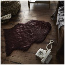 FAUX FUR SHEEP RUG 60X90 WINE 6482