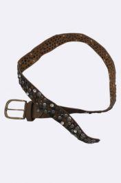 Faux Leather Heavy Metal Studded Belt