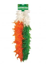 Feather Boa 150cm Irish Tri Colour W/tinsel