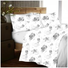 FLANNEL SHEET SET NANCY GREY