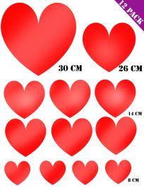Foil Heart Cut Outs