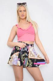 Frill Padded Bralette Top Pink