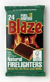 Fuel Express Barbecue Firelighters - Pack 24