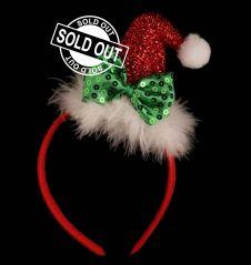 Funky Bow Santa Headband