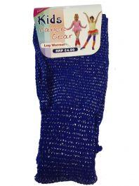 Girls Blue Glitter Leg Warmer