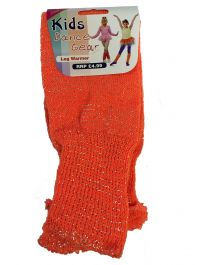 Girls Orange Glitter Leg Warmer