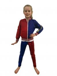 Girls Red Blue Jacket