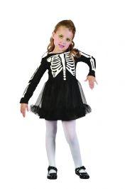 Girls Skeleton Toddler Costume
