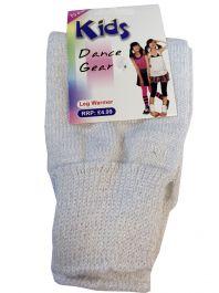 Girls White Glitter Leg Warmer