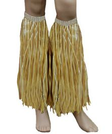 Gold Hawaiian Hula Straw Leg Cuffs