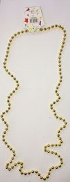 Gold Plastic Bead Necklaces (Approx 48 Inches)