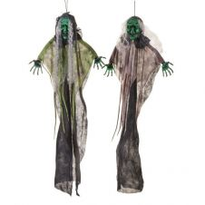 Green Face Hanging Witch 106cm