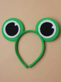 Green Frog eyes Aliceband