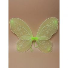 Green Net Fairy Wings with White Glitter Swirls