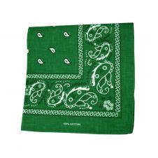 Green Paisley Bandana (1 Dozen)