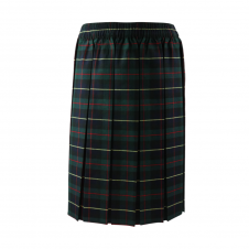 Green/Yellow Tartan Box Pleated Skirt