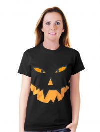 Halloween Pumpkin Black T-Shirt