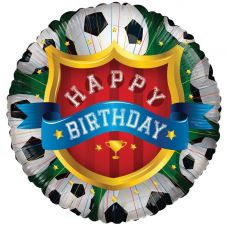 Happy Birthday Football Balloon (18 inch)