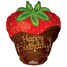 Happy Birthday Strawberry Shape Balloon (18 inch)
