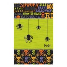 Happy Halloween Black Spider Paper Table Cover