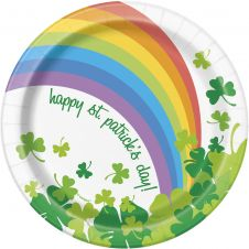 Happy ST Patrick's Day Plats ( Pack of 8)
