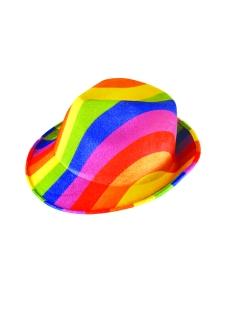 Hat Gangster Rainbow Adult