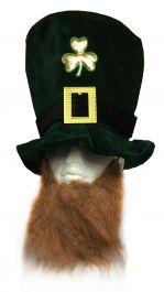 Hat Shamrock Velvet W/Beard Adult Deluxe
