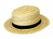 Hat Straw Boater (School Girl Hat)