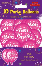 Hen Party Balloons (Pack of 10)