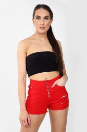 High waisted ladies Red shorts