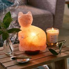 Himalayan CAT Crystal Pink Lamp