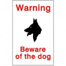 House Nameplate Co Beware Of The Dog - 15x10cm