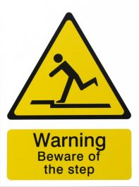House Nameplate Co Danger Beware of the Step - 15x20cm