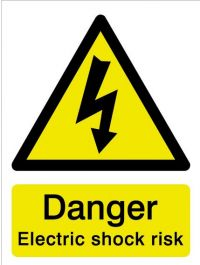 House Nameplate Co Danger Electric Shock Risk - 15x20cm